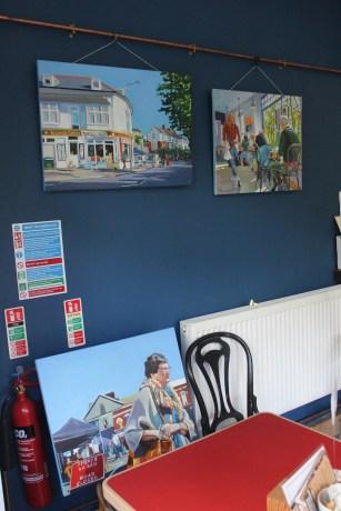 Putting up Art Exhibition