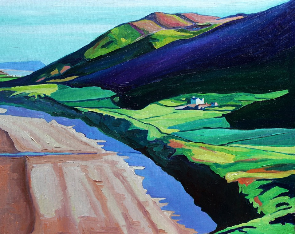 Painting of Rhossili Bay, Gower