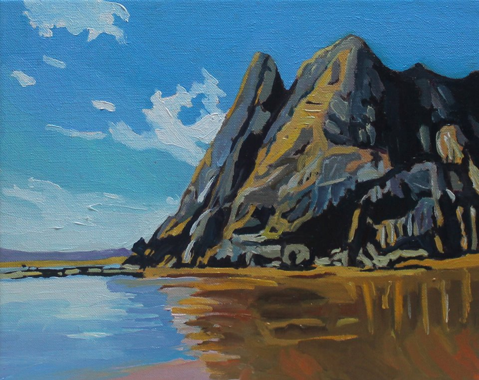 Gower painting of Great Tor