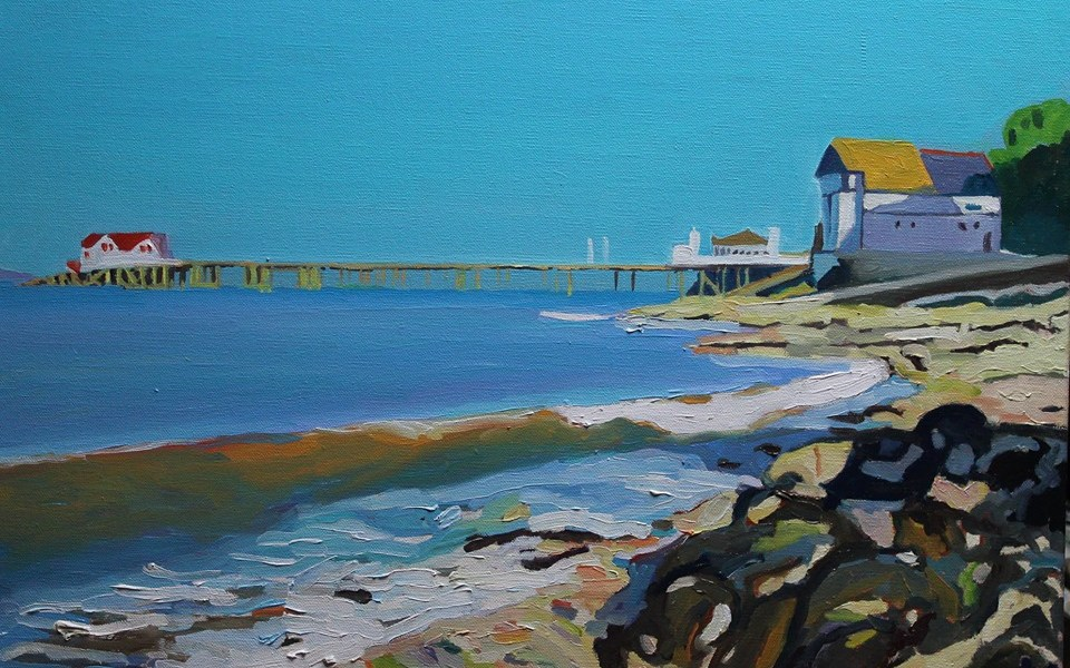 Painting of Mumbles, Gower