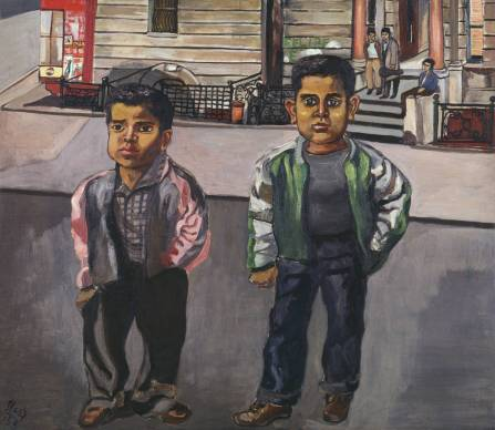 Dominican Boys on 108th Street 1955 Alice Neel 1900-1984 Presented by the American Fund for the Tate Gallery, courtesy of Hartley and Richard Neel, the artist's sons 2004 http://www.tate.org.uk/art/work/T11922