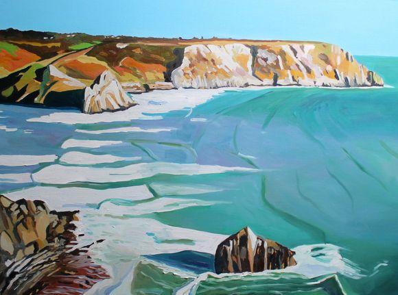 Three Cliffs Bay at High Tide