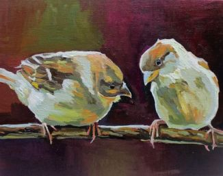 Two Sparrows #2