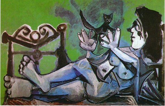 lying-female-nude-with-cat-1964