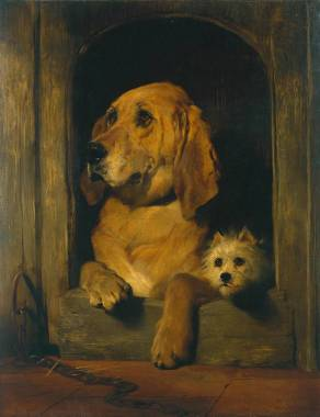 Dignity and Impudence 1839 Sir Edwin Henry Landseer 1802-1873 Bequeathed by Jacob Bell 1859 http://www.tate.org.uk/art/work/N00604