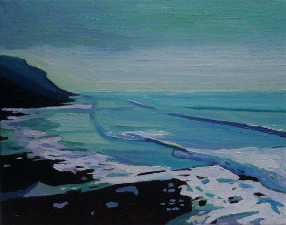 Blue Light on Hunts Bay