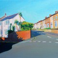 Painting of Malvern Terrace, swansea