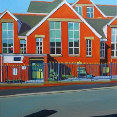 Painting of Brynmill School, Swansea