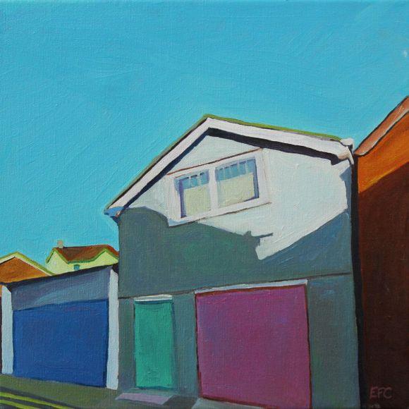Painting of street in Swansea