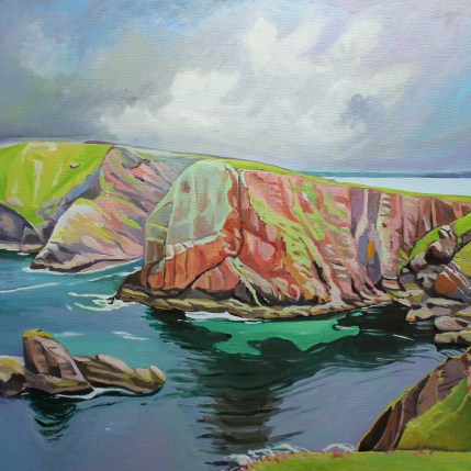 Painting of Tory Island Donegal