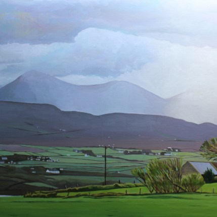 Donegal painting of mountains Dunfanaghy