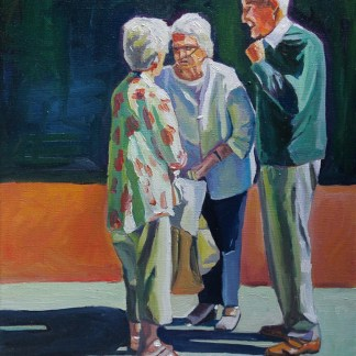 Painting of old people talking_EmmaCownie