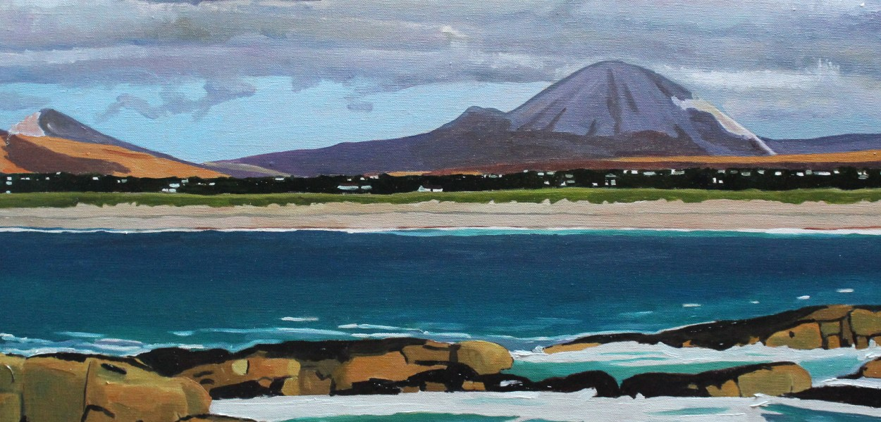 Mount Errigal from Ballymanus Beach, Donegal