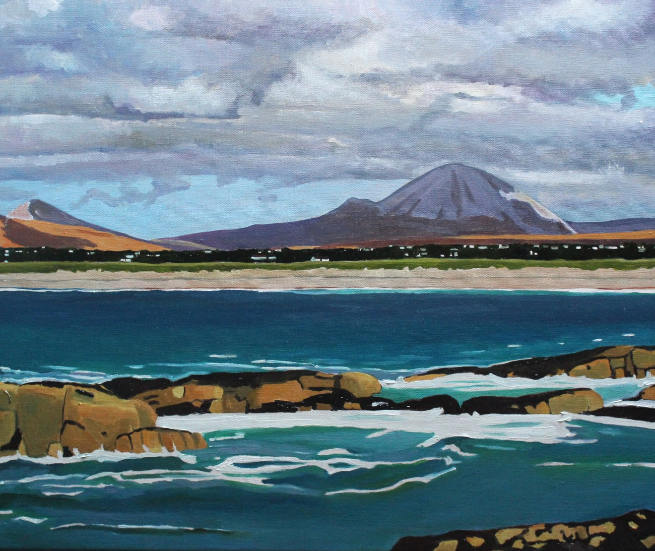Landscape painting in Oil of Mount Errigal, Donegal, Ireland