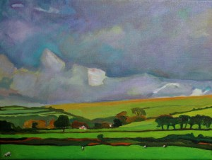 painting of Welsh landscape
