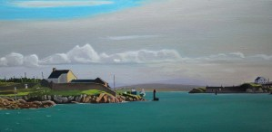 Painting of coast off Donegal, Ireland