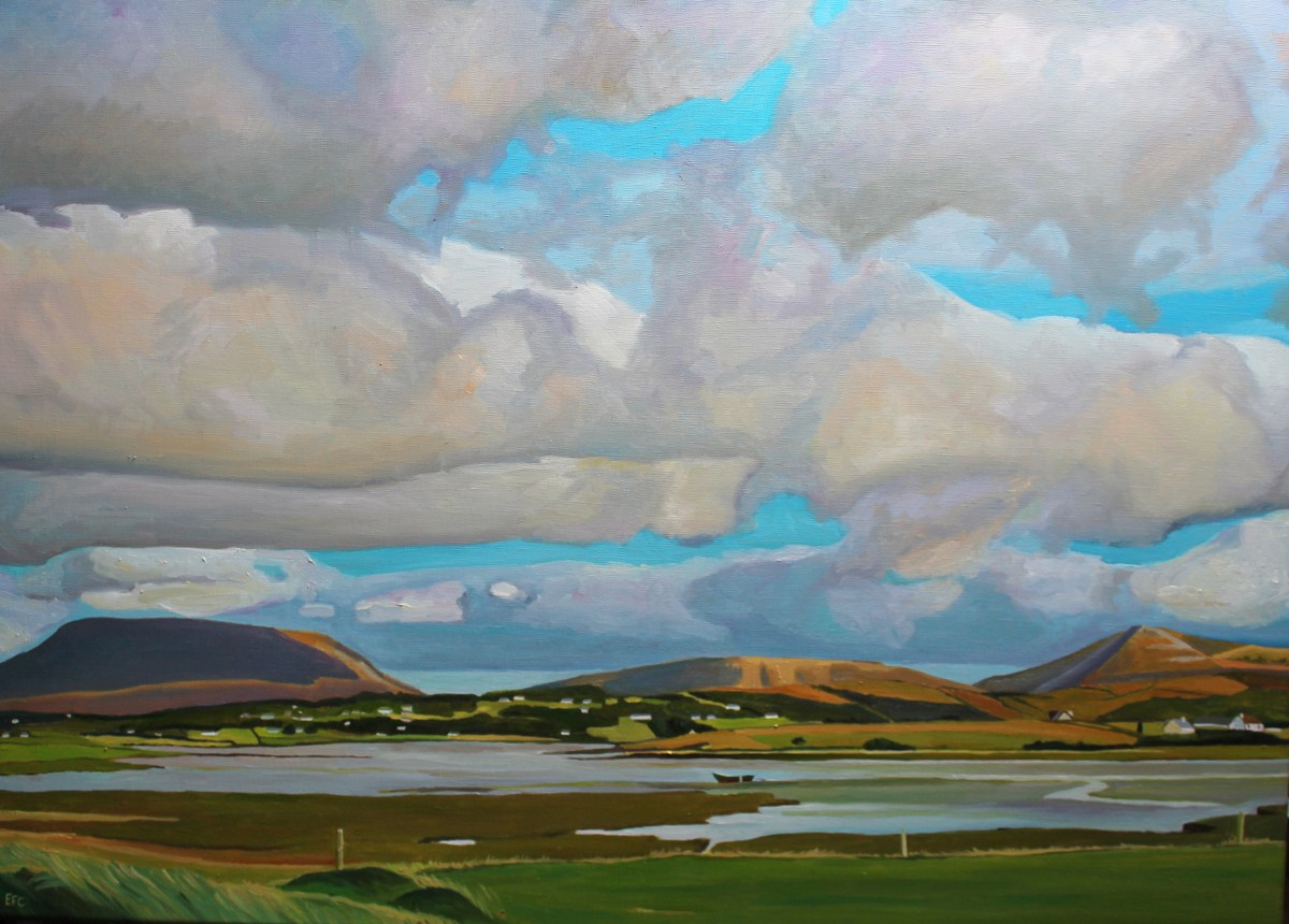 Painting of donegal landscape