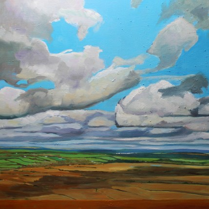 Painting of Wales. landscape, Cefn Bryn, Gower