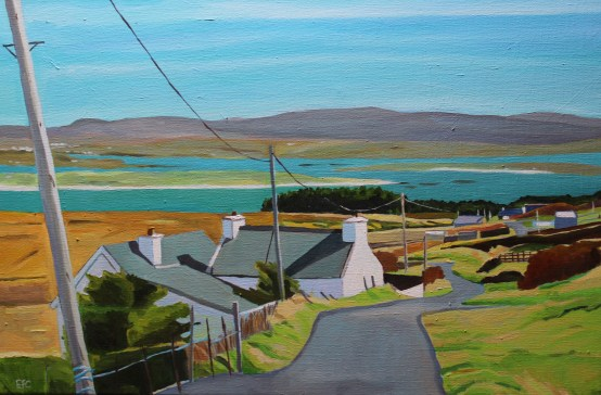 Painting of Donegal. Aranmore Island, Painting of Ireland