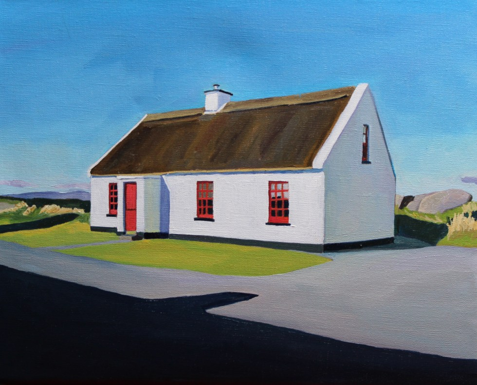 Donegal painting of thatched cottage, Ireland