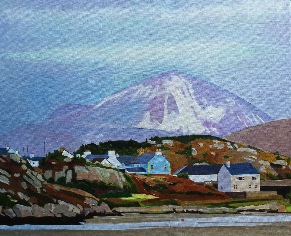 Oil painting of Mount Errigal, Donegal, Ireland
