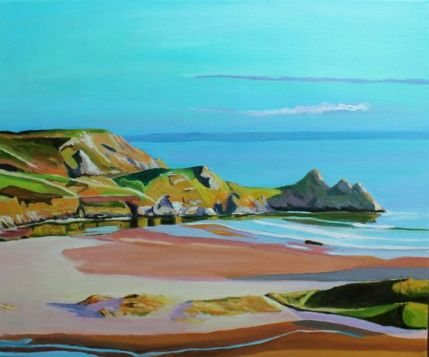 Evening on Three Cliffs Bay