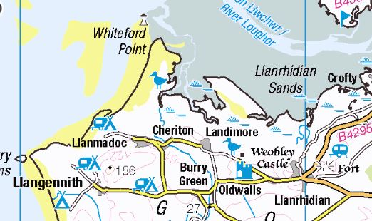 Map of North Gower
