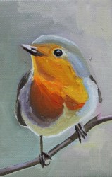 Painting of a Robin