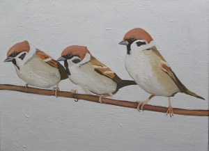 Painting of sparrows