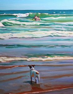Painting of a Jack Russell