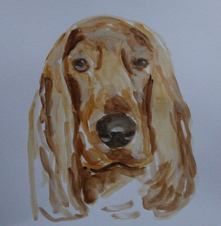 painting of cocker spaniel