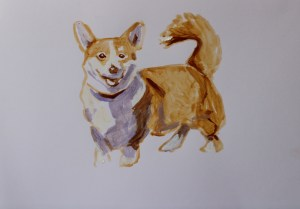 Painting of Corgi