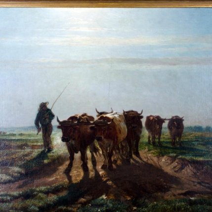 barbizon-school-oil-painting-oxen-going-to-plow-in-morning-6313