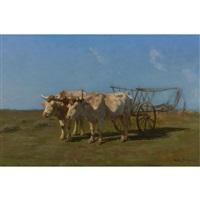 rosa-bonheur-two-white-oxen-pulling-a-cart