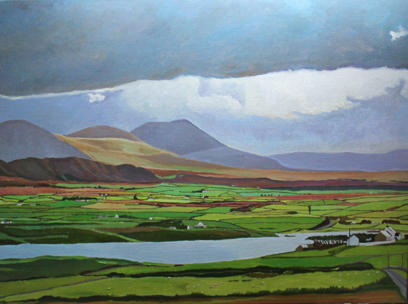 Oil painting of Donegal landscape, Ireland