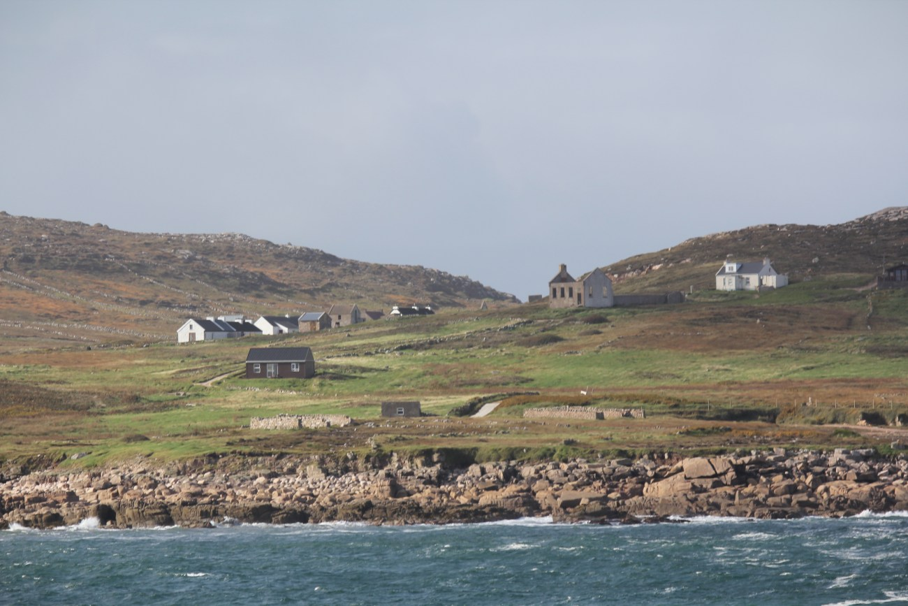 Buildings on Owey Island
