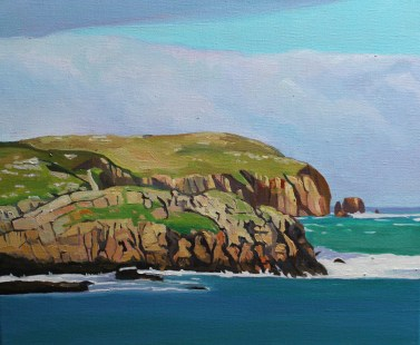 Painting of Owey Island, West Donegal, Ireland.