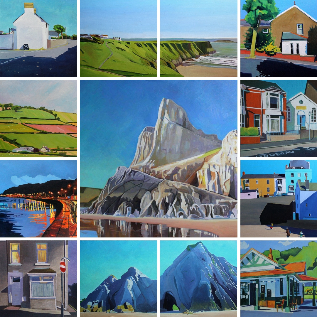 Oil paintings of Gower