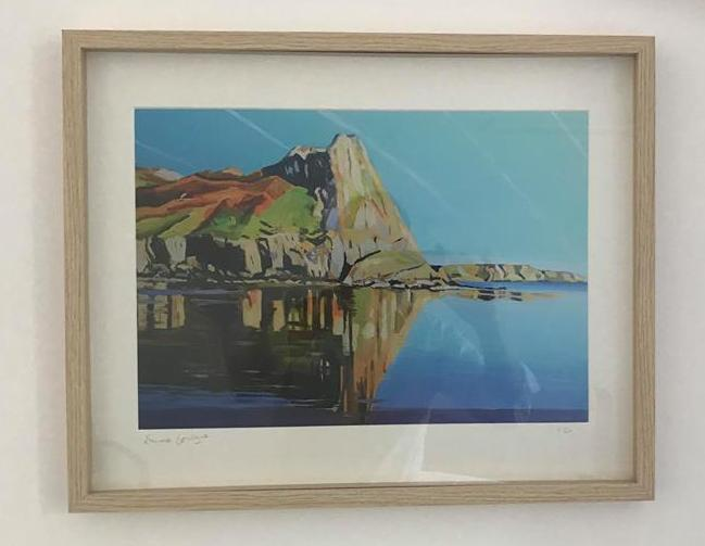 Painting of Gower coast