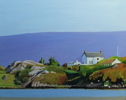 Oil painting of Donegal landscape