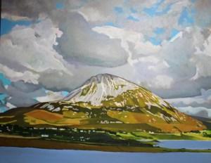 Painting of Irish mountain