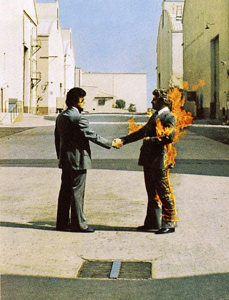 Man on fire image from Pink Floyd Album