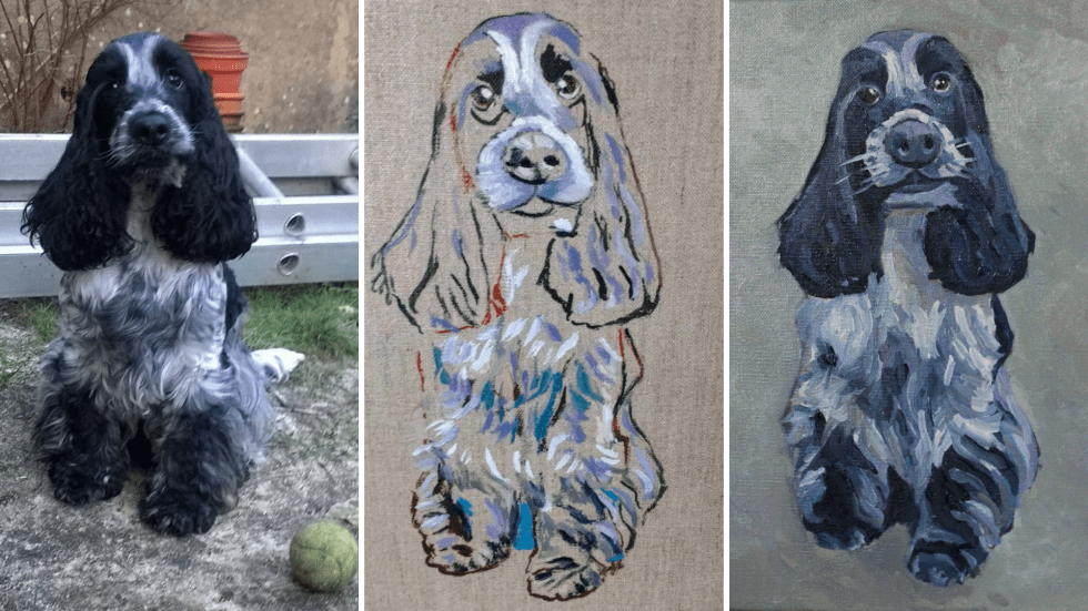 Commission of a painting of a spaniel