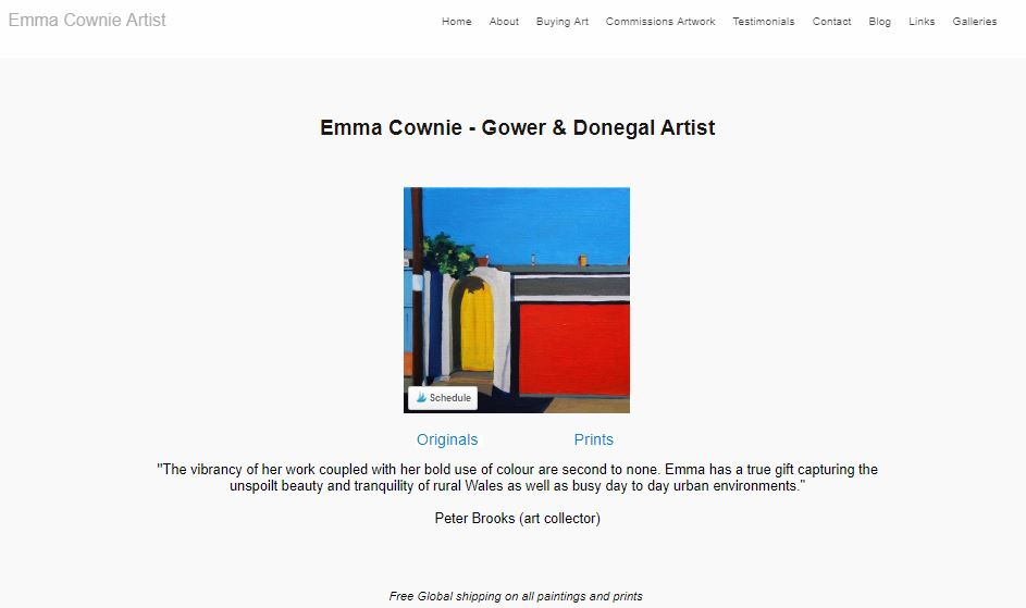 Emma Cownie's website