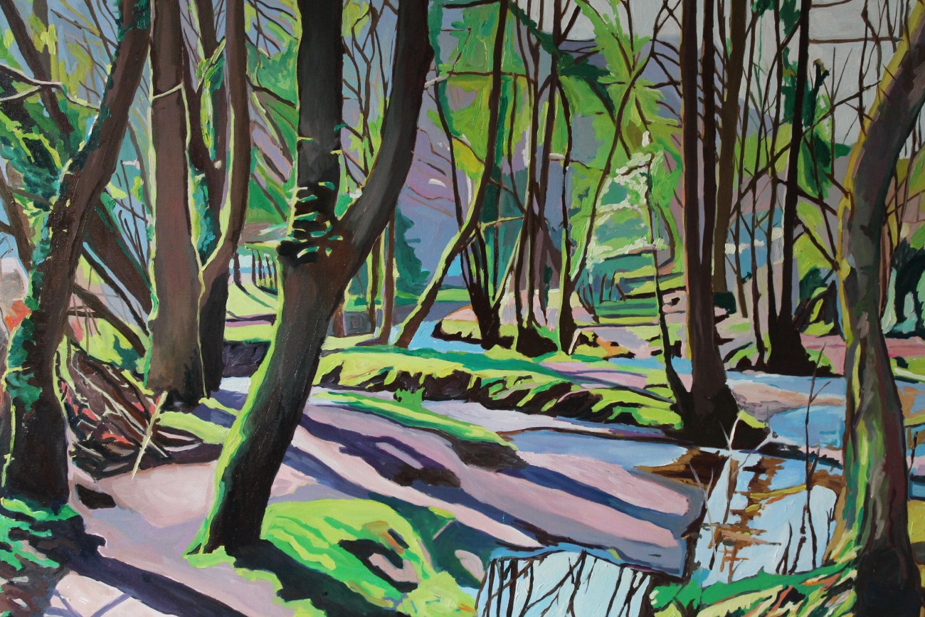 Painting of Gower Woodlands