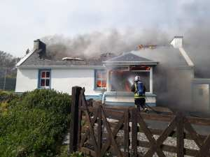Firefighter at Drumnacart, West Donegal