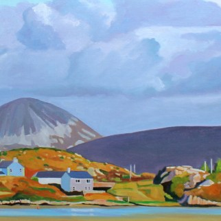 Painting of Donegal and Errigal