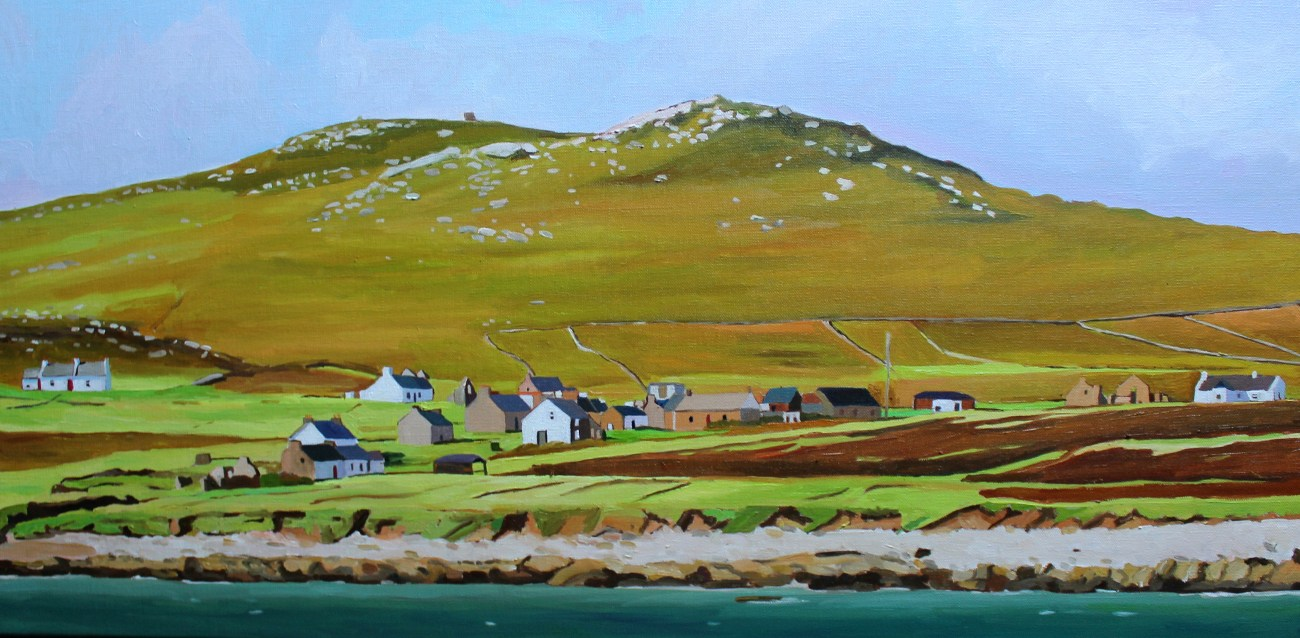 Donegal painting of Owey Island