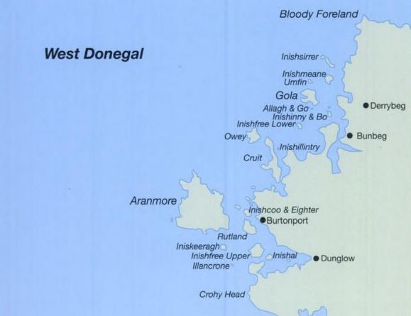 Map of West Donegal