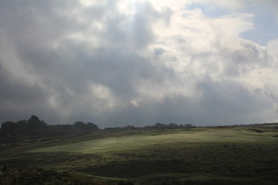 Clouds over Pennard Golf Course